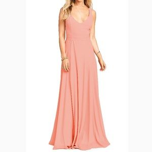 Show Me Your Mumu Neon Coral Jenn Maxi Dress